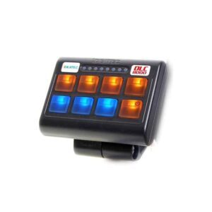 Kontrollpanel Ideatec 8 knappers bryterpanel, Gul/Blå